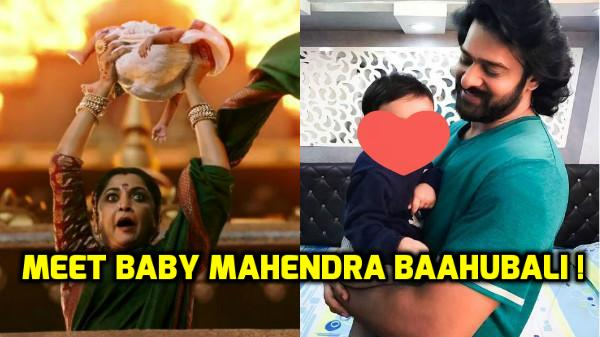 WOW! Did you know the BABY Mahendra Baahubali is actually a girl? Check out her VIRAL PIC posing with Prabhas!