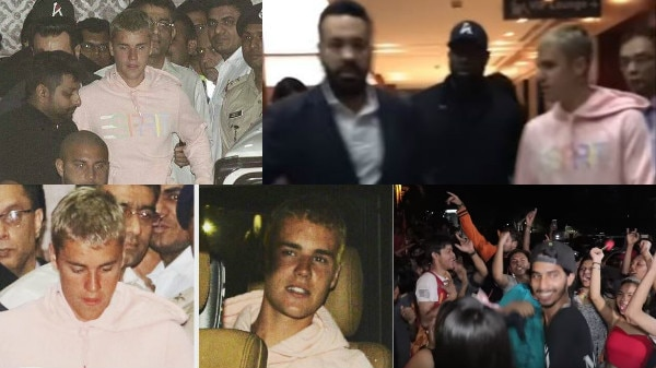 PICS AND VIDEO: Justin Bieber arrives in Mumbai for concert; CRAZY fans throng airport to catch glimpse of the POP SENSATION!