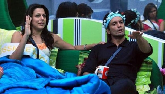 Pooja Bedi and Aakash Saigal aka 'Sky' in 'Bigg Boss 5'