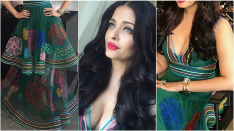 CANNES 2017: Aishwarya Rai's first look is OUT & she look absolutely GORGEOUS in her sheer green dress!