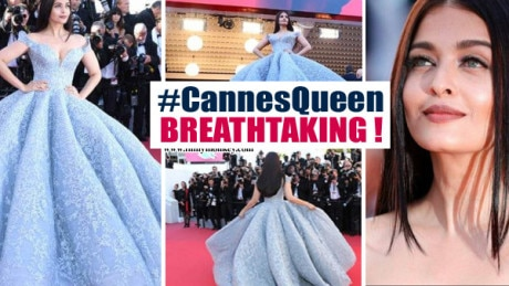 Cannes 2017 Day 3: Aishwarya Rai SIZZLES as a Princess on the Red Carpet! Hubby Abhishek REACTS too!