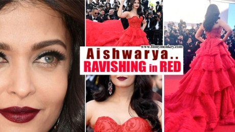 Cannes 2017 Day 4: Aishwarya Rai Bachchan RAVISHING in RED in an off-shoulder gown on red carpet! PICS!