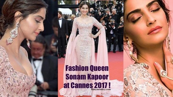 Cannes 2017: Fashion Queen Sonam Kapoor rules Red Carpet looking SEXY in a pink gown! PICS!