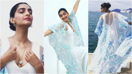 Cannes 2017: Stunning Sonam Kapoor looks like a DREAM in a flowy Abu Jani And Sandeep Khosla gown!