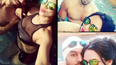 'Chandrakanta' actor Gaurav Khanna's POOL ROMANCE with wife Akanksha Chamola! PICS!