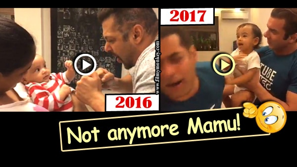 Adorable VIDEO: Nephew Ahil Sharma back in the 'boxing ring' with Mamu Salman Khan after 10 months!