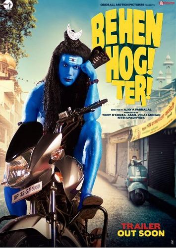 The controversial poster of 'Behen Hogi Teri' featuring Rakummar Rao as 'Lord Shiva'