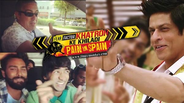 Khatron Ke Khiladi 8: 'SRK' fever in Spain.. Contestants' Spanish driver grooves to 'Chammak Challo'!