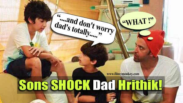 Hrehaan and Hridhaan Roshan's leave Hrithik in shock! Dad caught them candid! Check Out!