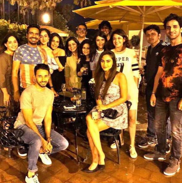 Image result for Ekta Kapoor celebrated birthday with Mona Singh and Krystle D'Souza