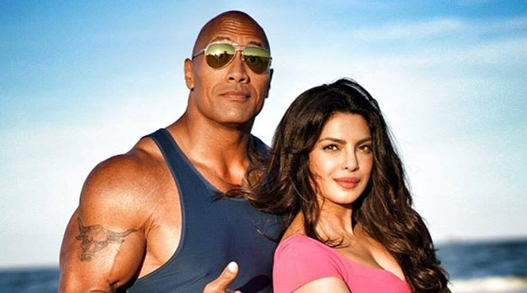 Priyanka with Dwayne Johnson