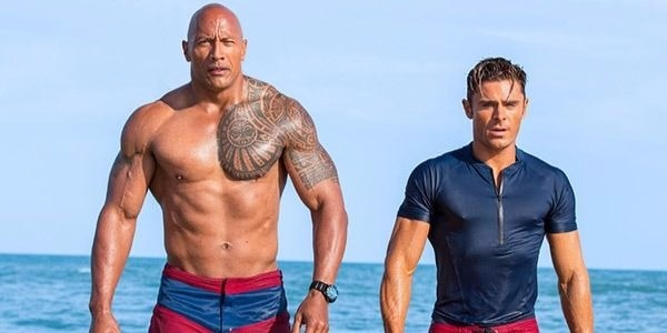 Dwayne & Zac in 'Baywatch'