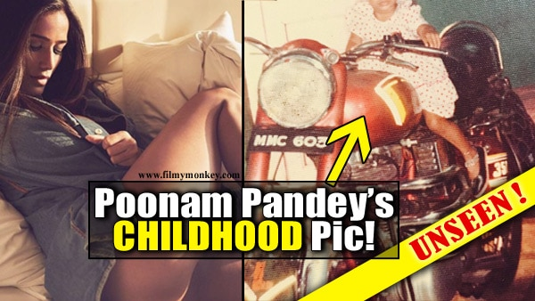 Poonam Pandey's childhood pic as a little girl in frock with two pony tails is adorable!
