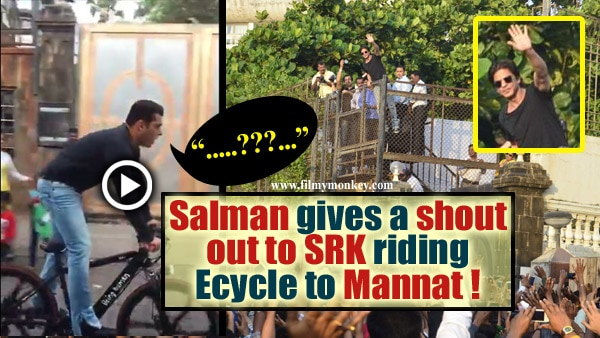 VIDEO: Salman Khan rides Being Human E-cycle to Mannat; Gives shout out to SRK!