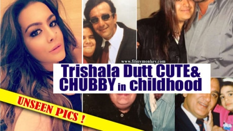 Father's Day Spl: Trishala Dutt shares a throwback pic as chubby-cute girl with Dad Sanjay Dutt! More PICS!