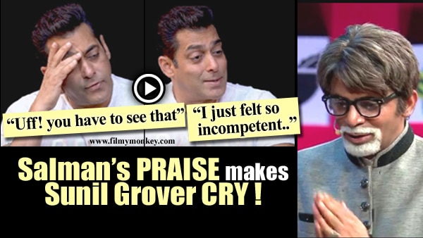 "Sunil Grover cries in reaction to Salman calling himself ""incompetent"" praising the comedian!"