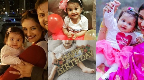 Ex Bigg Boss contestant Dimpy Ganguly pens an EMOTIONAL post as her BABY GIRL Reanna turns one; Here are AWWDORABLE PICS from her daughter's FIRST BIRTHDAY BASH!