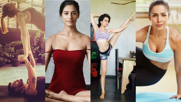 International Yoga Day 2017: From Bipasha, Malaika to Shilpa Shetty, Kangana & Poonam Pandey, Bollywood celebs share their PICS doing YOGA!