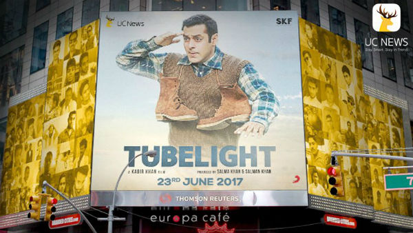 Ahead of 'Tubelight' release Salman Khan again shines at Times Square with his 'Find Laxman's Brother' squad