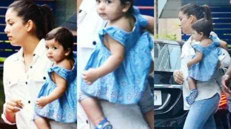 SEE PICS: Shahid Kapoor's BABY GIRL Misha looks every bit of a DOLL wrapped in her mommy Mira Rajput's arms!