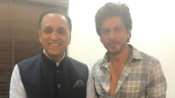 'Jab Harry Met Sejal' actor Shah Rukh Khan meets Gujarat Chief Minister Vijay Rupani!