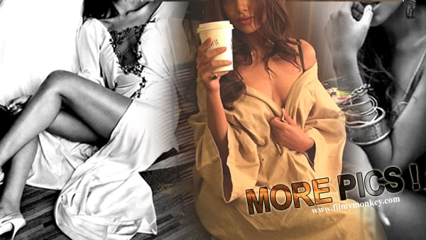 Esha Gupta's SEDUCTIVE avatar posing in her Vanity Van will make you weak in knees! See PICS!