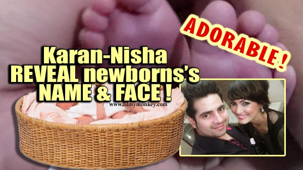 PIC ALERT! Karan Mehra & Nisha Rawal's baby boy Kavish Mehra's face revealed & it is SUPER ADORABLE!