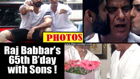 PICS: Raj Babbar celebrates 65th Birhday with both his sons Aarya and Prateik! The trio caught in some adorable moments!