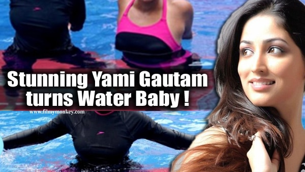 PICS: Yami Gautam works out in a swimming pool during Speedo Aqua-Fit training program launch!