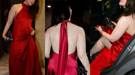 IN PICS: Yummy-mummy Kareena Kapoor Khan looks like a BOMB in a SEXY RED BACKLESS GOWN at Manish Malhotra's BASH!