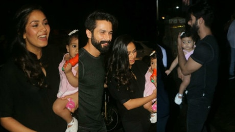 IN PICS: Shahid-Mira's BABY GIRL Misha Kapoor steals the limelight at celebrity hairstylist Aalim Hakim son's birthday bash!