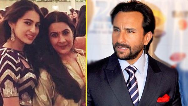 Saif Ali Khan reacts to reports about disagreement between him & Amrita over daughter Sara's Bollywood debut!