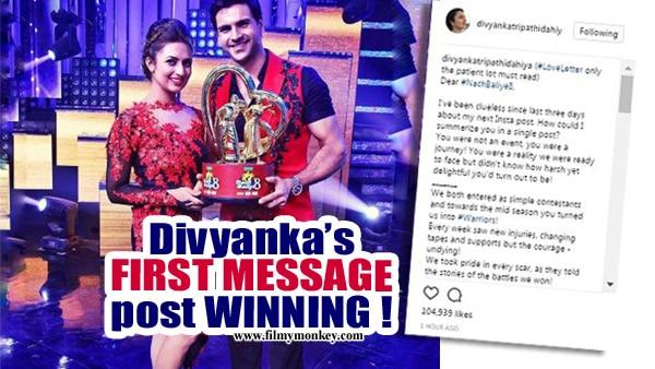 Divyanka Tripathi's first message post winning 'Nach Baliye 8' answers all controversies surrounding it!