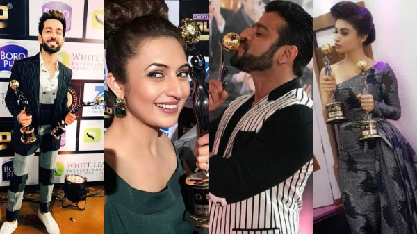 Zee Gold Awards 2017 Full Winners List: IN PICS- 'Naagin' Mouni Roy, YHM stars Divyanka- Karan WIN TOP awards; Check out actors posing with their trophies!