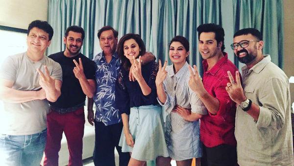 Salman Khan finally joins 'Judwaa 2' cast to shoot for his cameo!