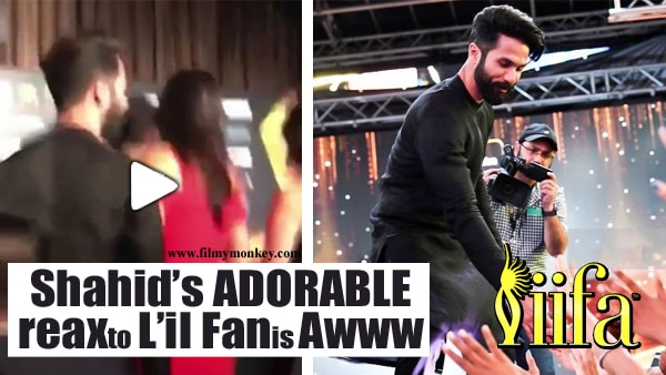 IIFA 2017: Shahid Kapoor's ADORABLE reaction to a kid shouting from the crowd will make you go Awww!