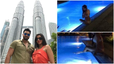 PICS: 'Nach Baliye 8' couple Monalisa & hubby Vikrant's extended HONEYMOON in Malaysia!