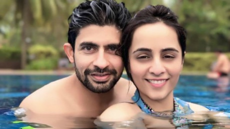'Kumkum' actor Hussain Kuwajerwala & wife Tina gets COSY in a pool while chilling in Goa!