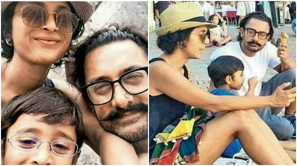 Aamir Khan on vacation to Italy with wife Kiran Rao & son Azad Rao! See pics!