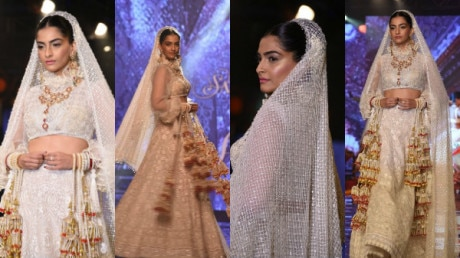 SEE PICS: Sonam Kapoor looks DROP-DEAD-GORGEOUS as she walks the ramp in her bridal avatar!