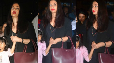 SEE PICS: Aishwarya Rai's darling daughter Aaradhya looked sad at the airport as they return back from their family vacation!