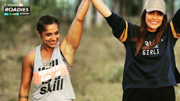 MTV Roadies Rising Grand Finale: Shweta Mehta from Neha Dhupia's gang WINS the show; BEATS Baseer from Prince's gang to become the ultimate warrior!