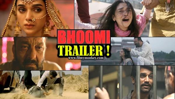 Bhoomi Trailer! Sanjay Dutt's chilling comeback as a vengeful father of Aditi Rao Hydari!