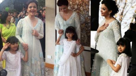 IN PICS: Aishwarya Rai and her MINI ME Aaradhya Bachchan GLITTER in a Manish Malhotra creation in Australia!