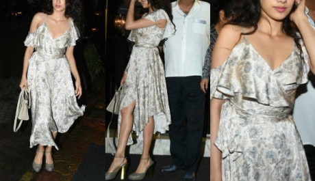 IN PICS: Sridevi's elder daughter Jhanvi Kapoor steals the limelight at her MOM's birthday bash with family!