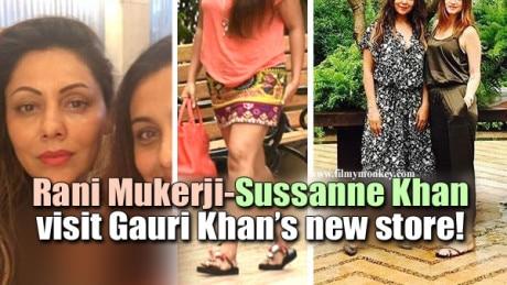 PICS: Rani Mukerji & Sussanne Khan spotted at Gauri Khan Desings new store in Juhu, Mumbai!