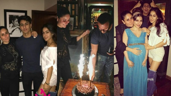 PHOTOS: Saif Ali Khan's kids- Sara & Ibrahim pose with stepmom Kareena Kapoor at their DAD's BIRTHDAY BASH;Here are all the INSIDE PICS from the party!