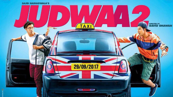 Varun Dhawan promises 'double fun' in first 'Judwaa 2' poster!