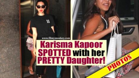 PICS: Stunning Karisma Kapoor & her pretty daughter Samaira spotted in Bandra salon!