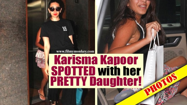PICS: Stunning Karisma Kapoor & her pretty daughter Samaira spotted in Bandra salon!